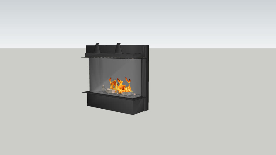 Barbas Gas Fire Panorama 110-70 with 10 cm
