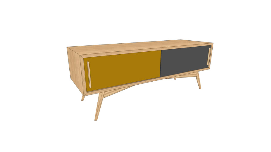 Meuble TV sur-mesure en chêne 120x40xh45cm / TV furniture