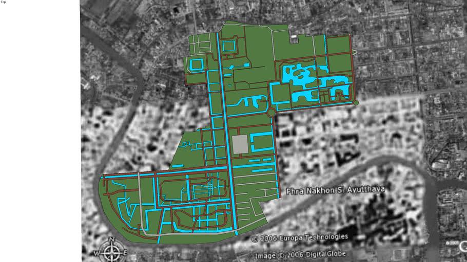 Ground Plan of Ayutthaya Historical Park
