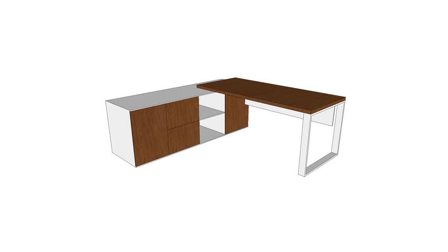 Executive Desk with Left Hand Side Return