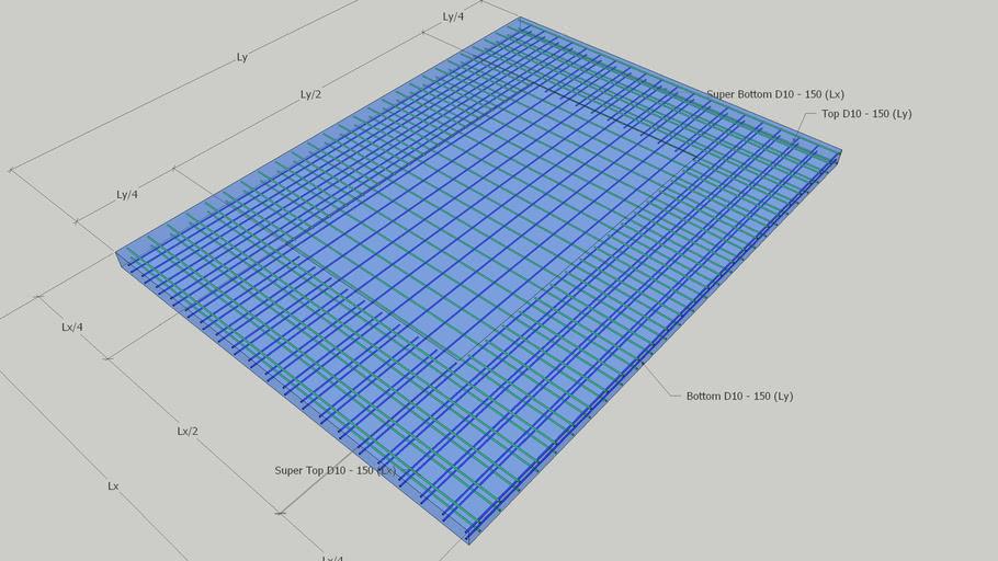 Concrete Slab Reinforcing 3D