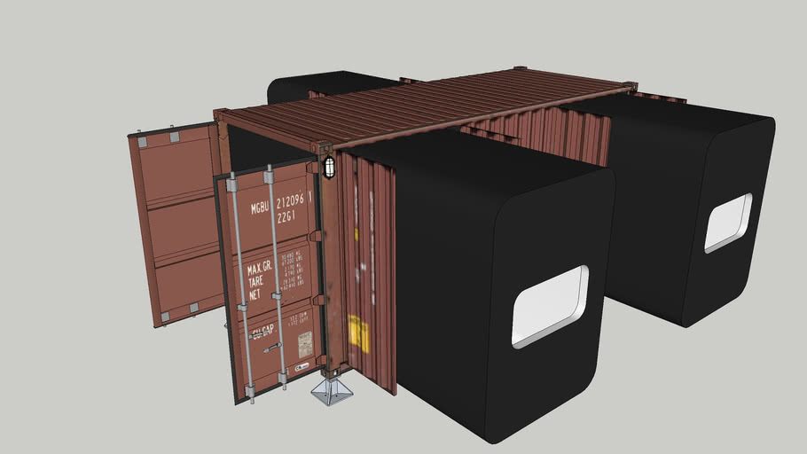 LabZero3 mobile unit made of shipping containers