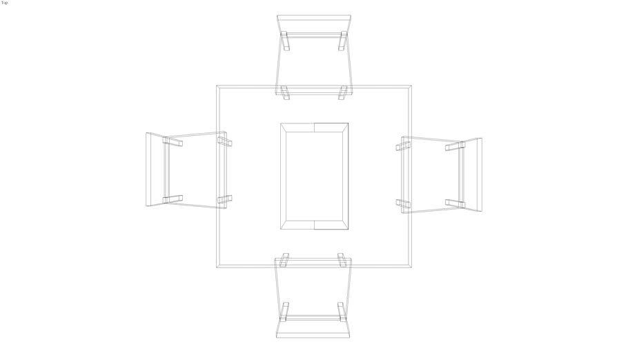 tavolo 80x80