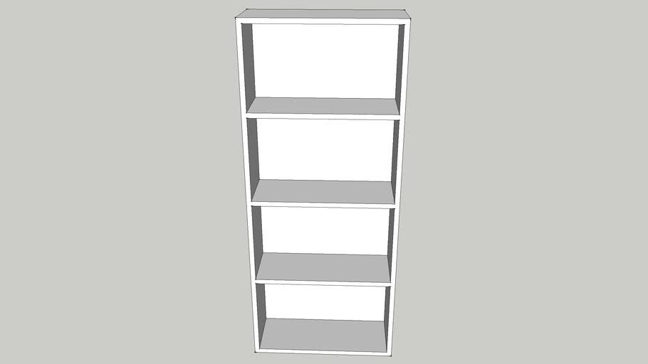 Simple Four Shelf Bookshelf