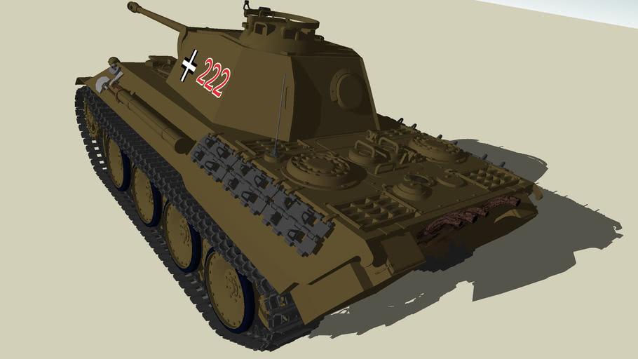 Panzerkampfwagen V Ausf. A -  German Panther Tank World War 2