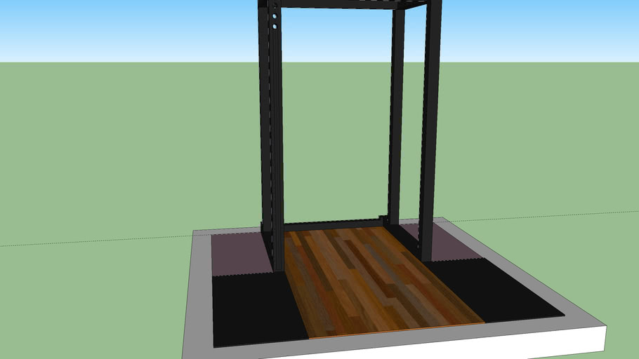 cage and platform for weightlifting & powerlifting