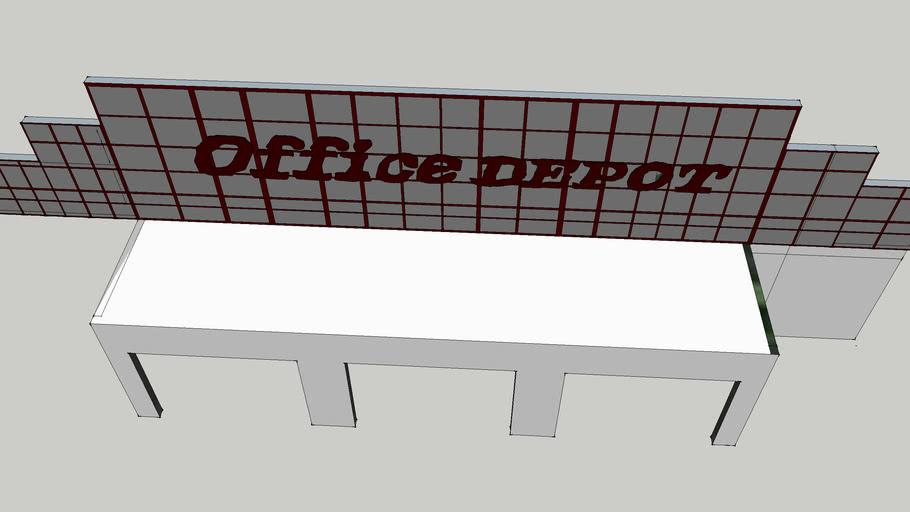 90's Office Depot prototype entrance