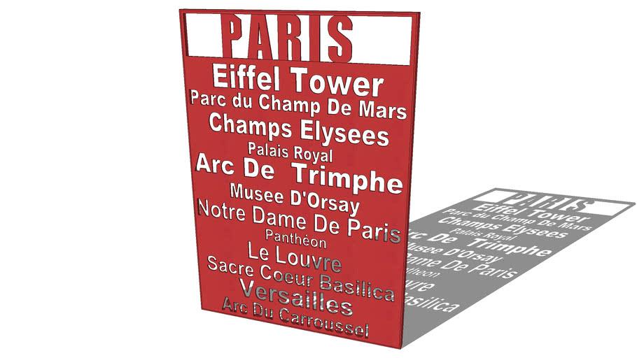 DECO MURALE IN LOVE PARIS, Maisons du monde. Réf: 138505 prix45,00 €