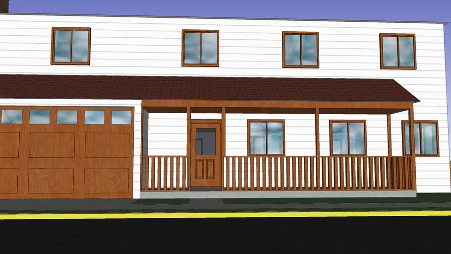 house, window, door