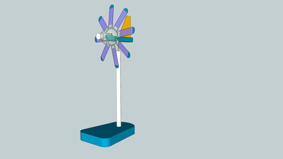 ペットボトルを利用した風力発電