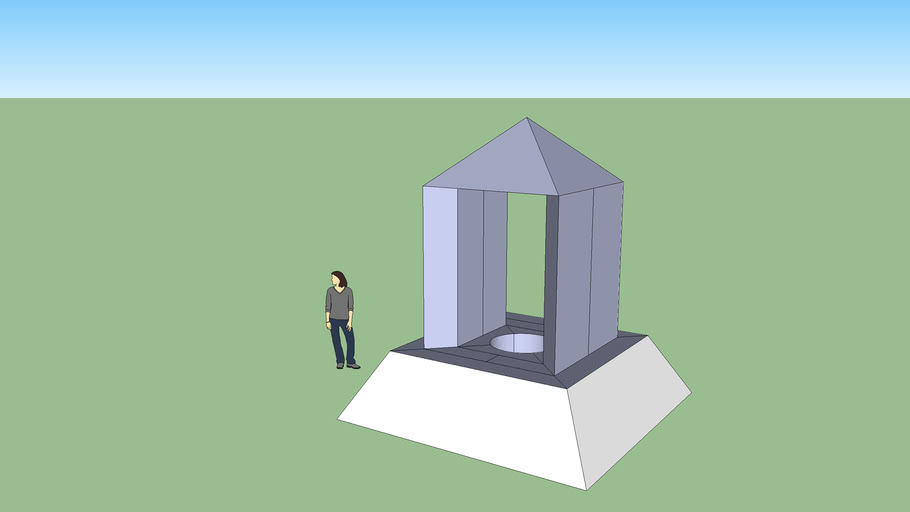 Basic Monument With a Well