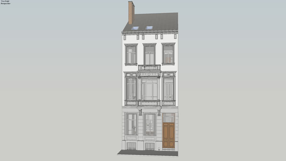 1878 Townhouse with bow-window