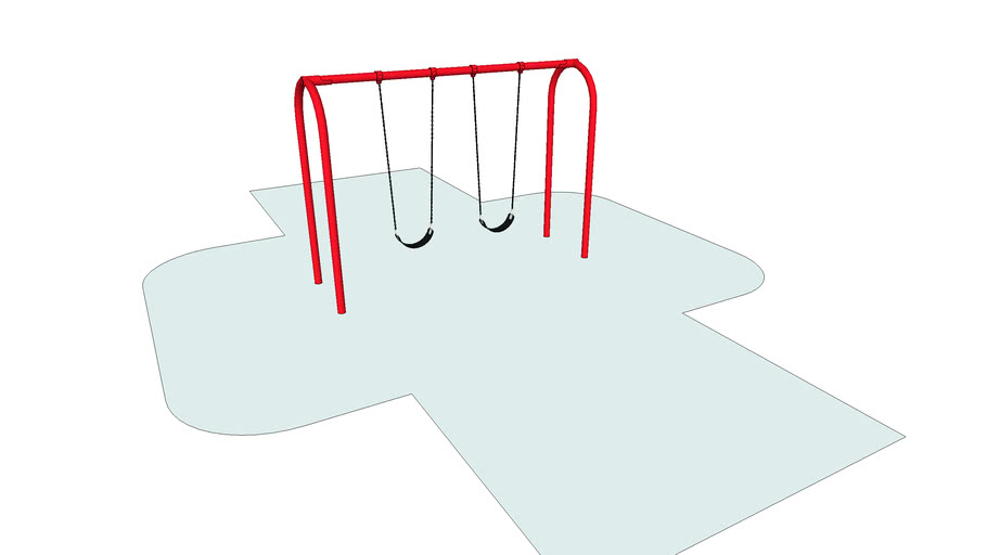 Arch Swing with 8ft Top Rail and 3.5in Supports