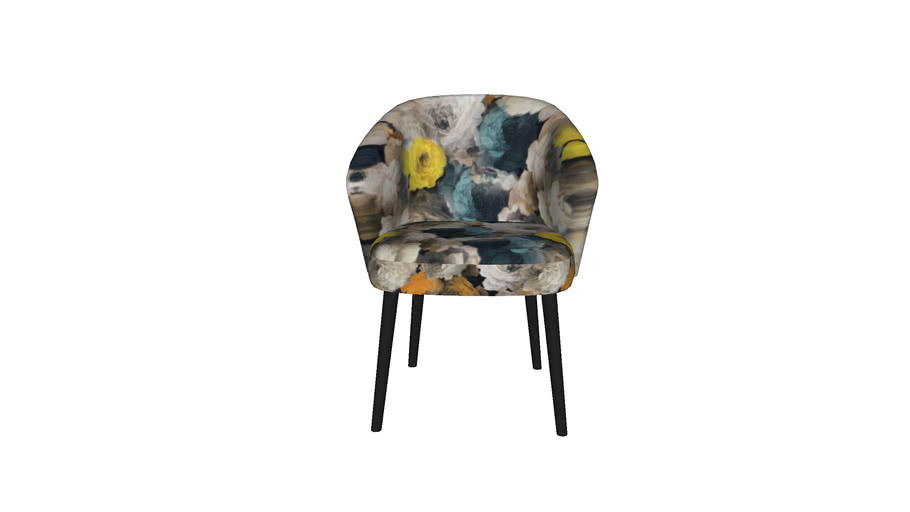 84684 Chair with Armrest Peony Yellow