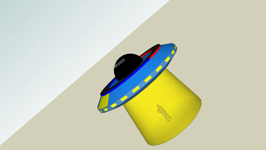 Galactic Police flying saucer