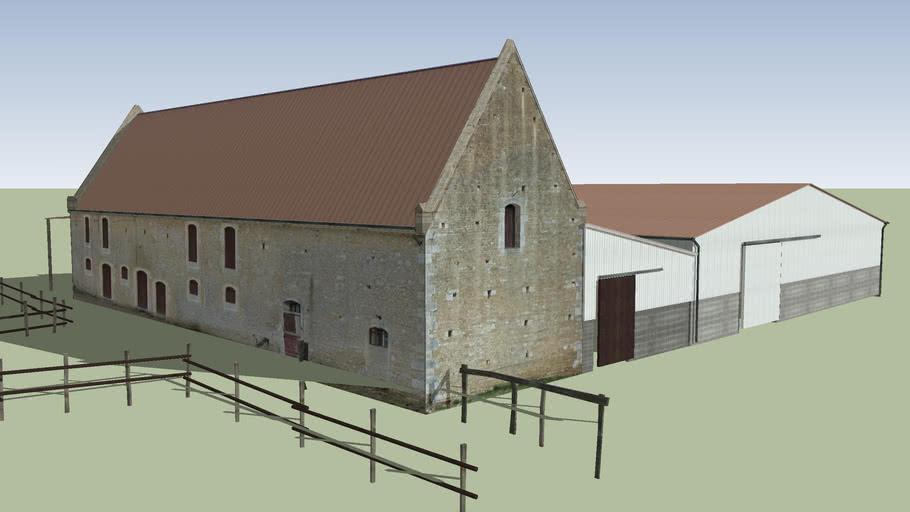 Corps de ferme, aile Sud (Ferme Sainte-Barbe-en-Auge, Mézidon)