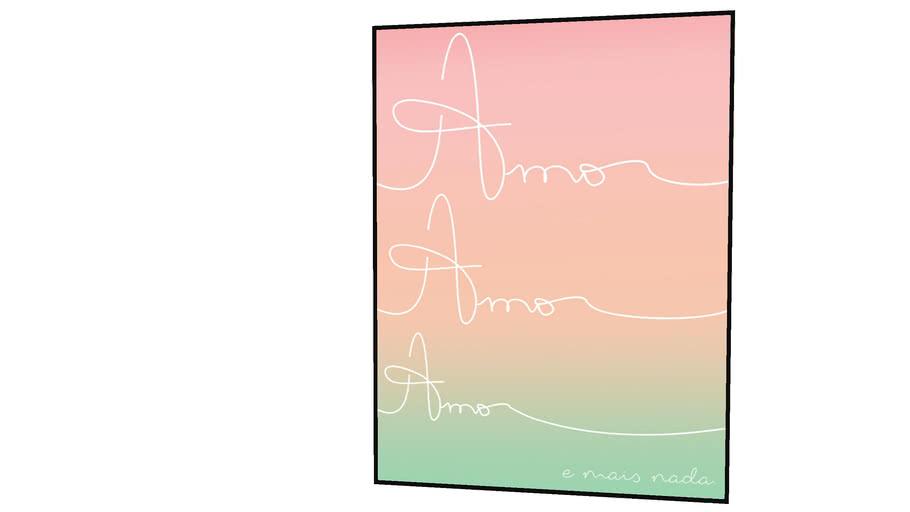 Quadro Urban Arts - Amores -Rose