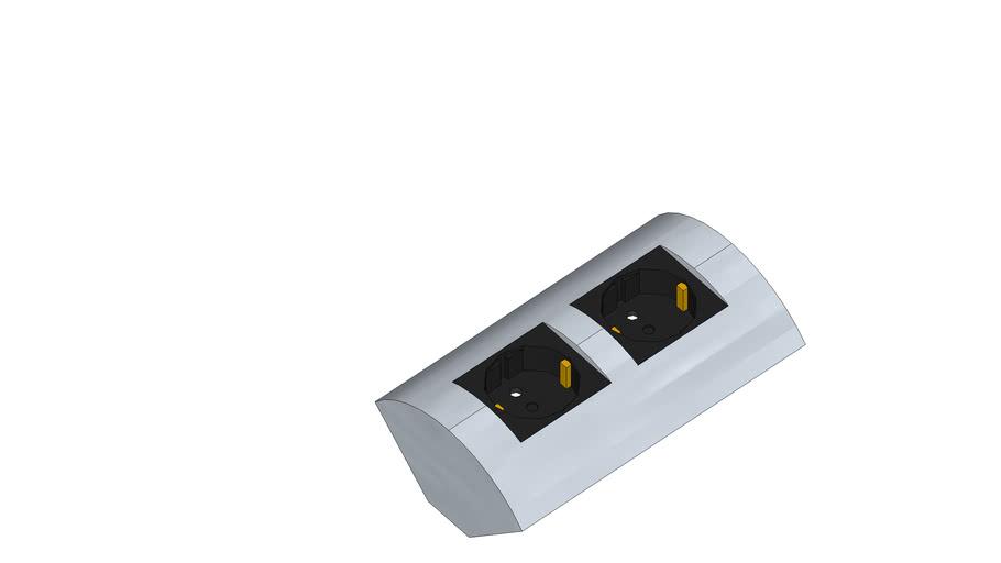 90deg Type F wall socket