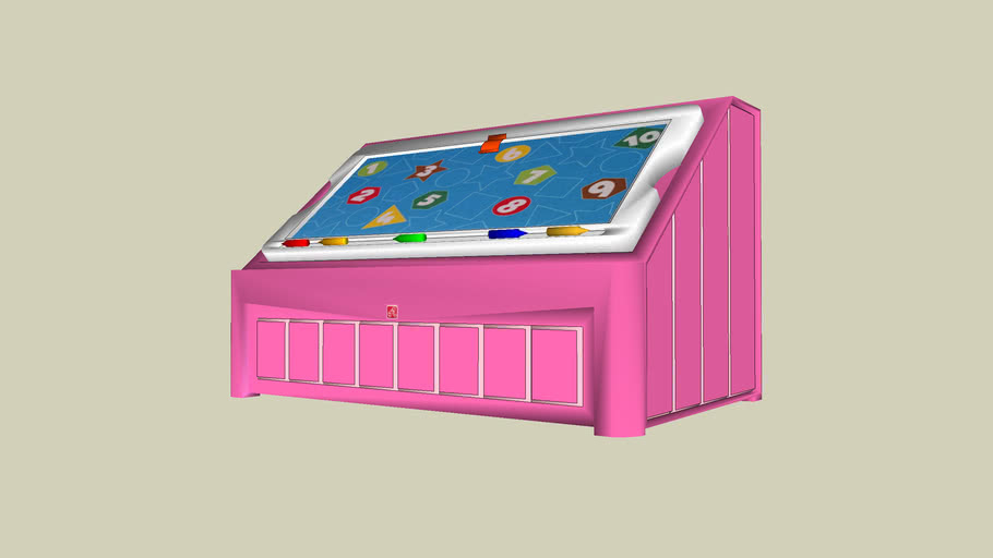 2-in-1 Toy Box & Art Lid™ - Pink