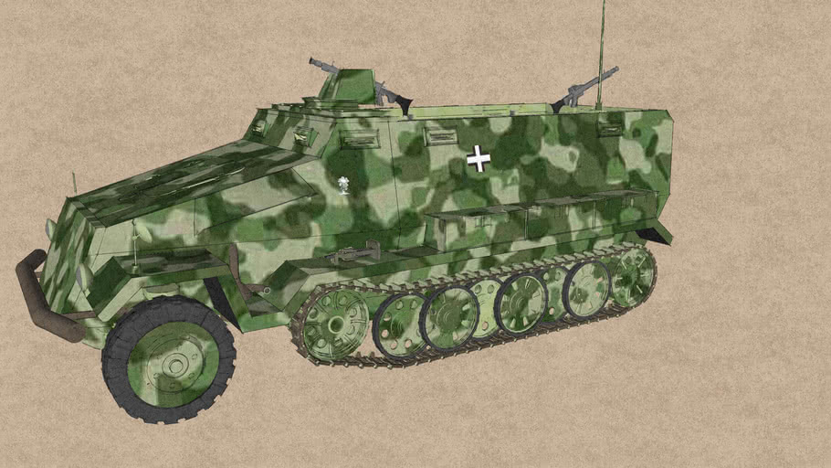 SdKfz 251  German armored fighting vehicle