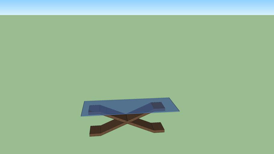 Mesa com base em X