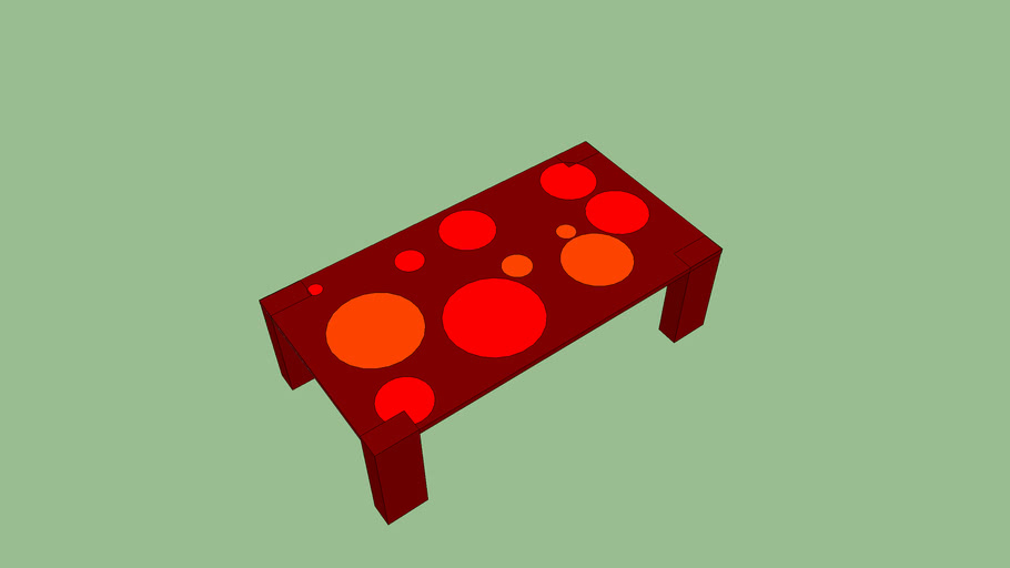 Polka dot table
