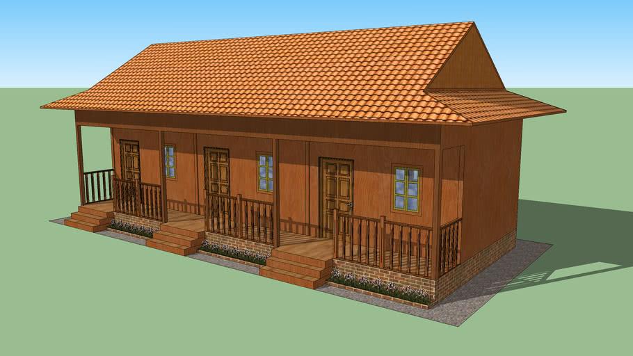 Khmer wood school | Khmer school | Khmer old school 3 classes