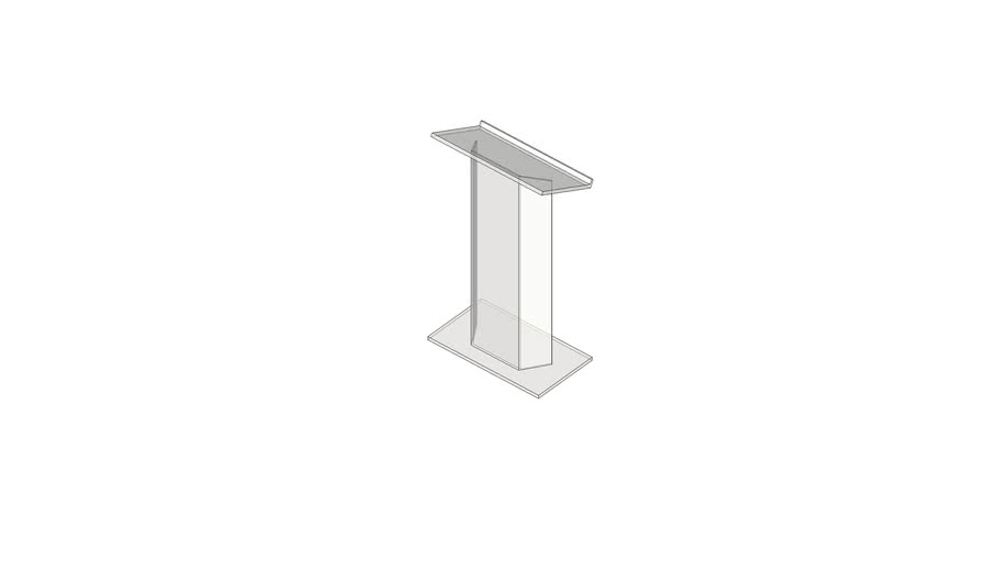 clear plexi lectern