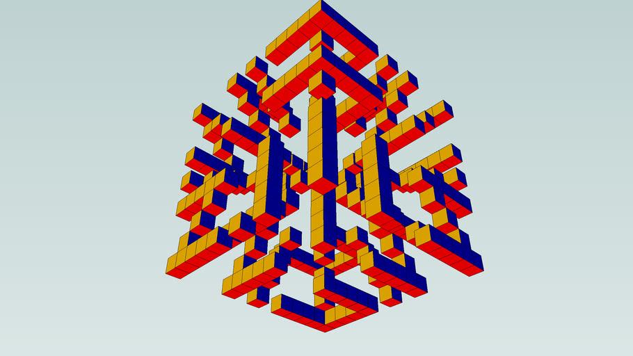 3D blok met letters (3.0)