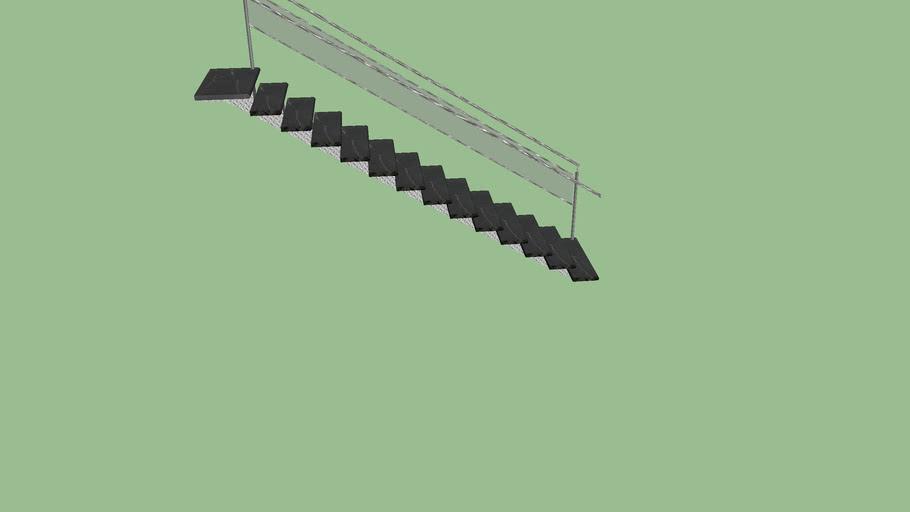 escada vazada com nero venatto
