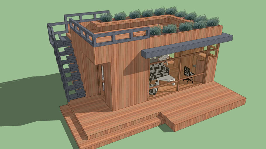 House Tiny With Roof Deck 3d Warehouse