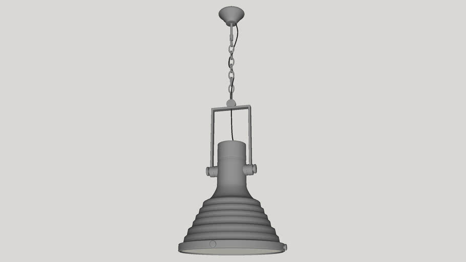 Pendente Industrial Vintage de Aço Cromado 1 Lâmpada PL