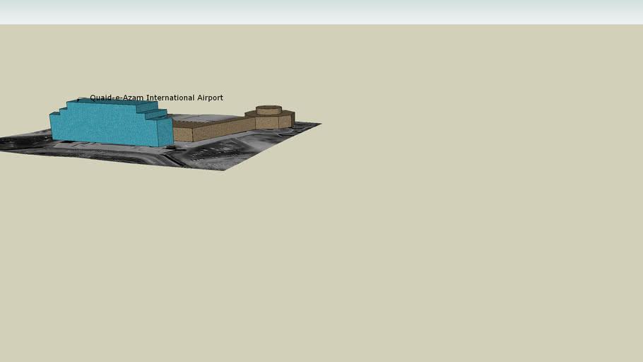 3D Model Of Quaid-e-Azam International