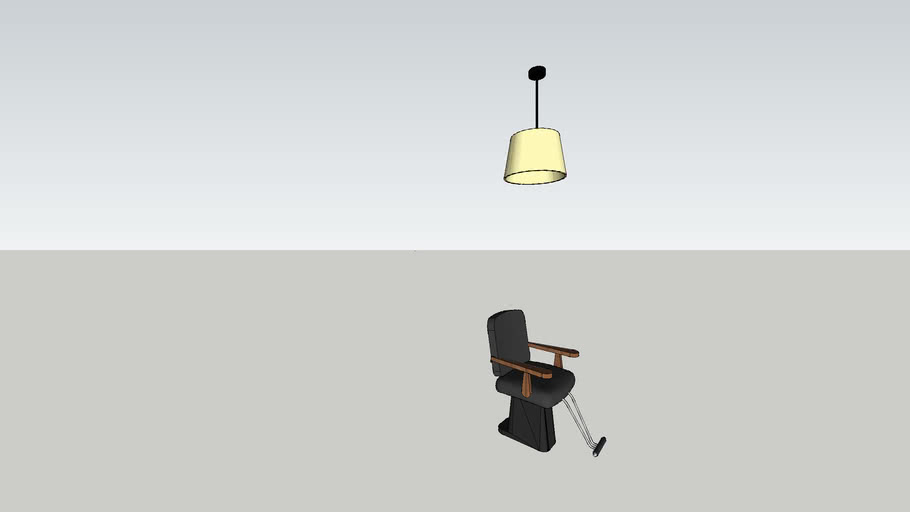 pendant and hair chair