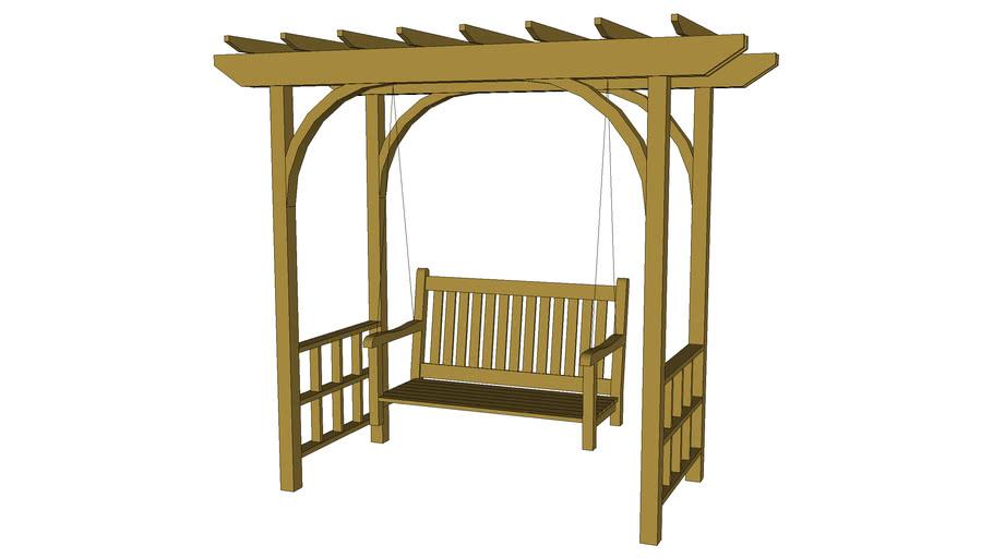 Trellis arbor with swing