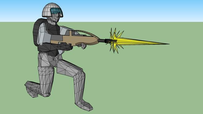 ROC Snow Soldier with helmet