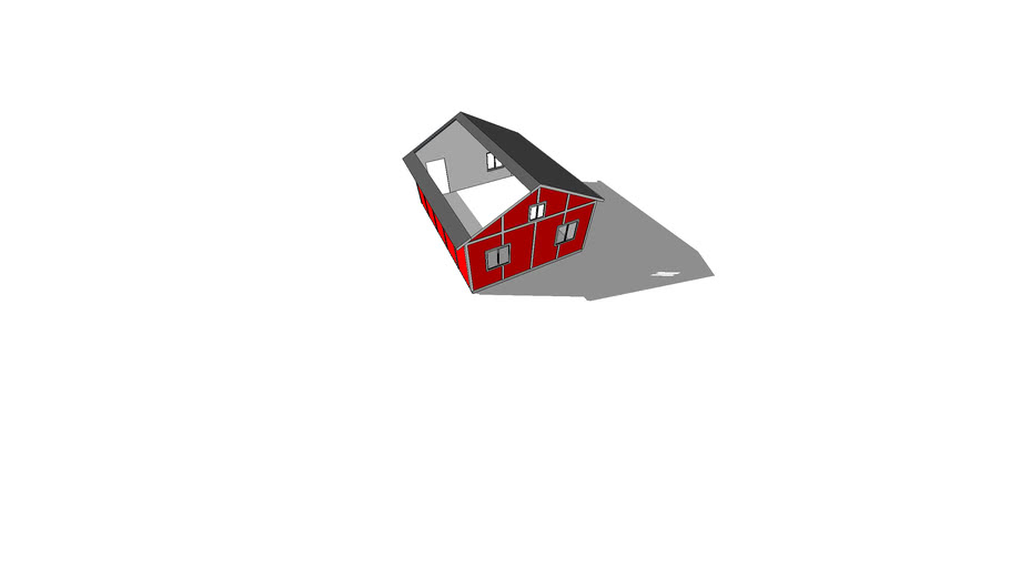 One Small House Model Exposed Roof