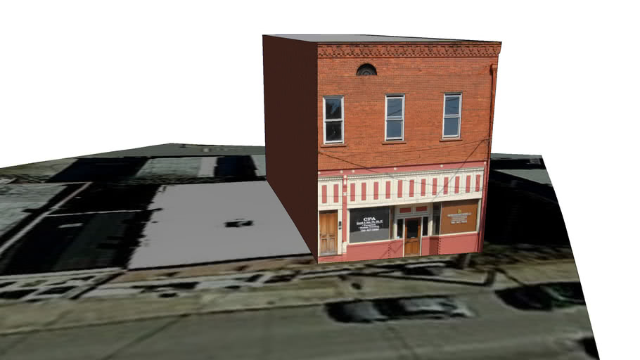 Jefferson Georgia Main Street in 3D - CPA & Fortress Investments