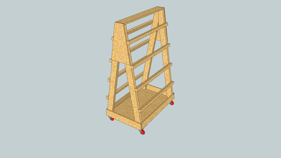 Rolling Clamp Cart