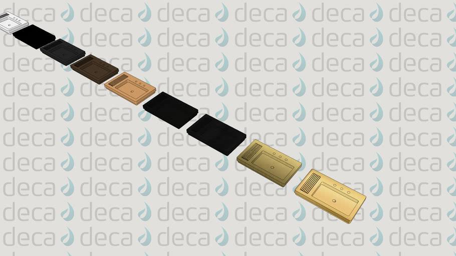 Deca Cuba de Sobrepor Retangular  - Código L.1044C - Saboneteira e Grelha