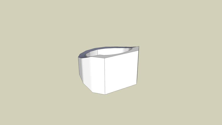 Basic Square-faced men's ring.