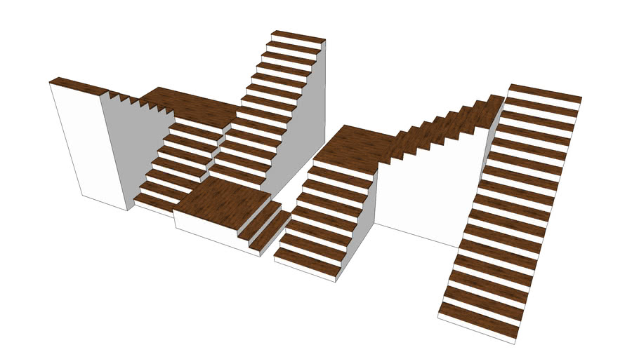 Different Types Of Stairs 3d Warehouse