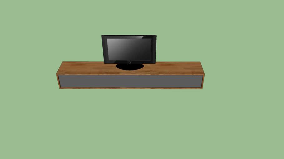 Tv Meubel Design.Zwevend Tv Meubel By Flow Design 3d Warehouse