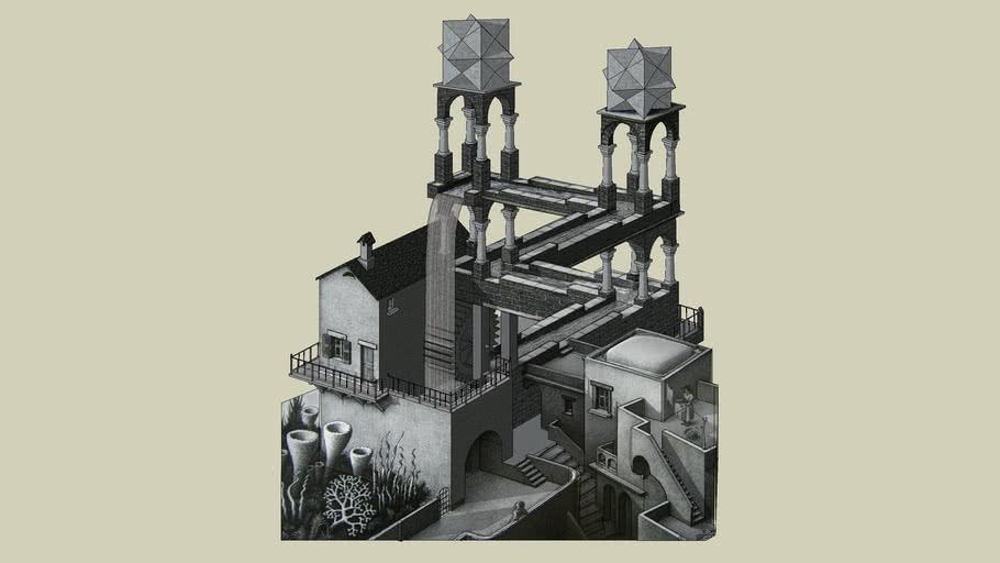 Escher - Waterfall
