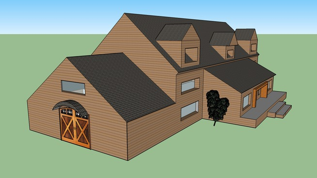 House and Garage Attachment