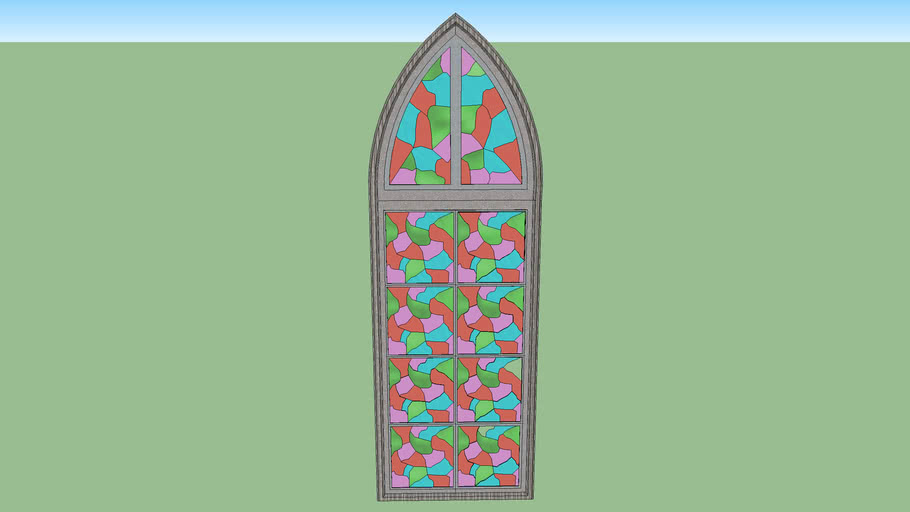 Stained Glass Gothic Window