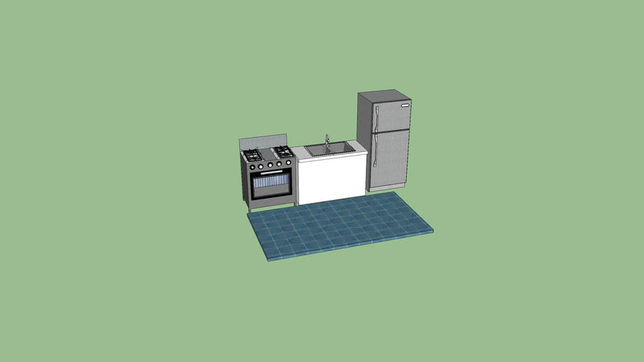 Cocina con area minima