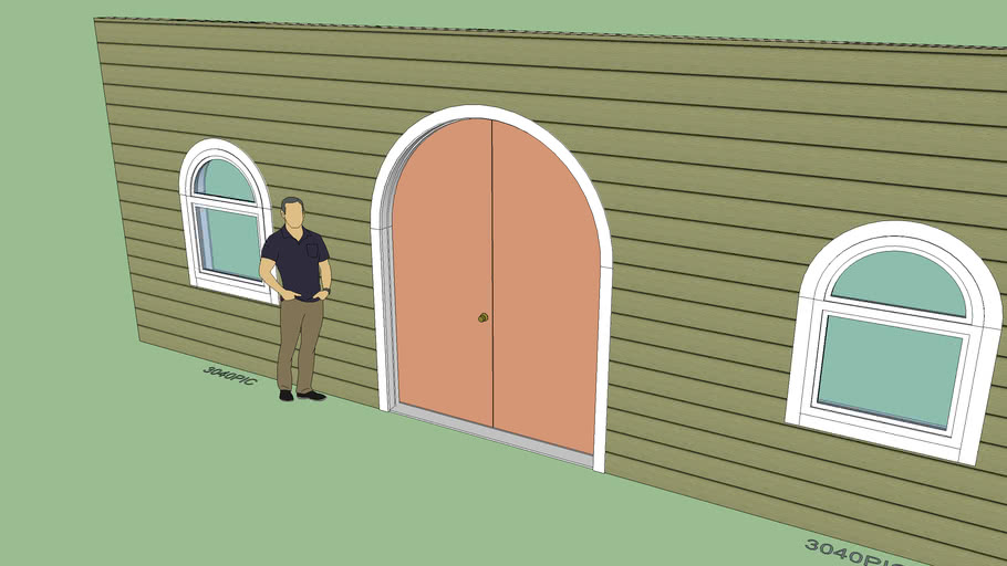 Double Arched Solid Door