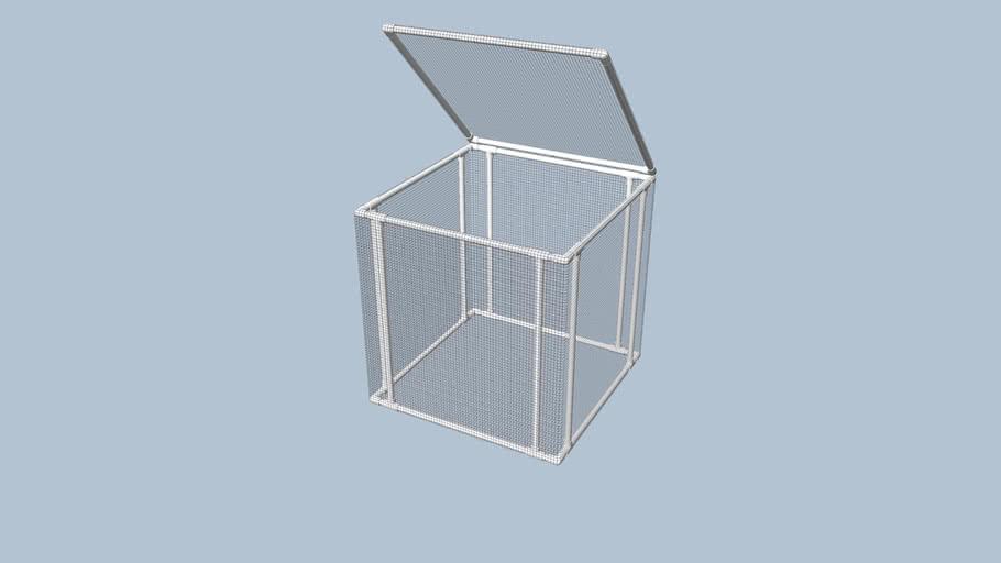 PVC & Wire Cloth Compost Bin