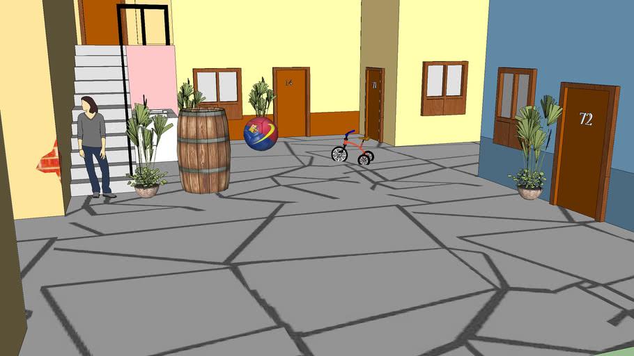 Cenários e  vila do Chaves!
